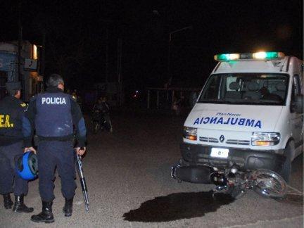 moto y ambulancia