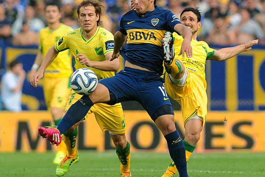 Buenos Aires, Octubre 26/2014: Boca vence 1 a 0 a Defensa y Justicia en la Bombonera. Foto: Alejandro Alvarez / Télam / ema.-